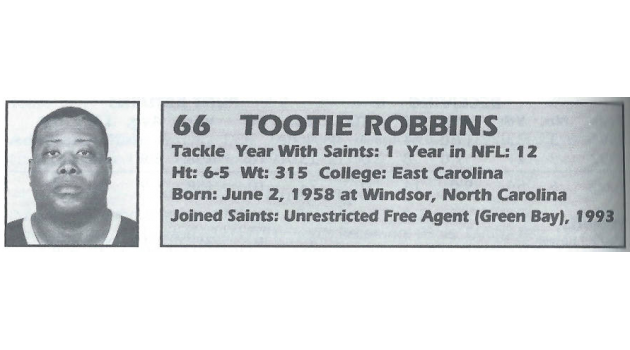 """Top 10 Worst Free Agents Signed by the Saints: #10 – James """"Tootie"""" Robbins"""