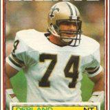 Derland Moore 1983 Topps Card