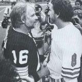 Oilers Quarterback Archie Manning meets Saints Quarterback Kenny Stabler