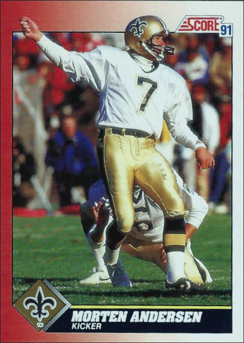 Saints Kicker Morten Andersen 1991 Score Card
