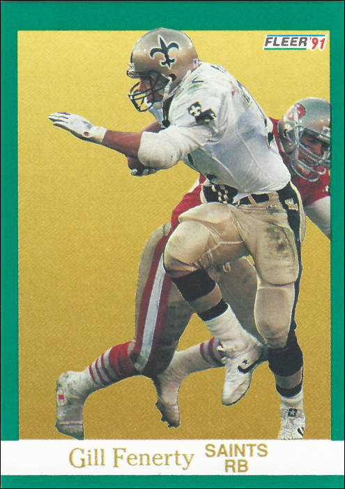 Gil Fenerty 1991 New Orleans Saints Fleer Card