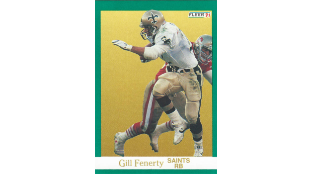 Gil Fenerty 1991 New Orleans Saints Fleer Card