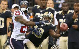 Saints Receiver Devery Henderson against Houston