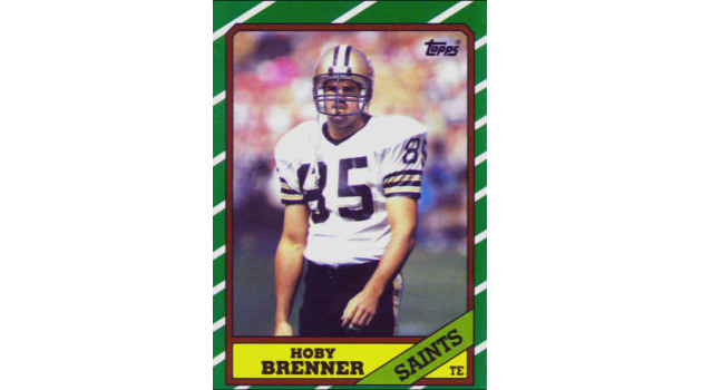 Hoby Brenner 1986 New Orleans Saints Topps Card