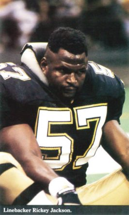 Ricky Jackson Saints Linebacker in 1988
