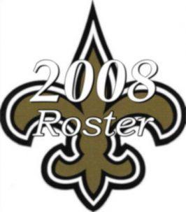 2008 New Orleans Saints Team Season Roster