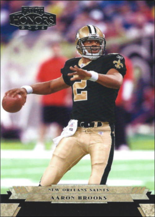Aaron Brooks 2005 New Orleans Saints Donruss Playoff Card