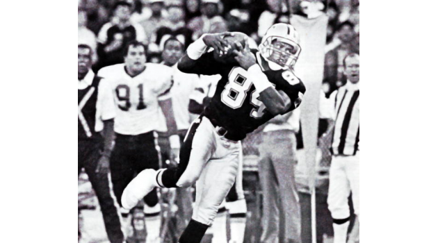 New Orleans Saints receiver Eric Martin makes a reception against the Washington Redskins in 1988