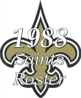 New Orleans Saints Roster 1988 Icon