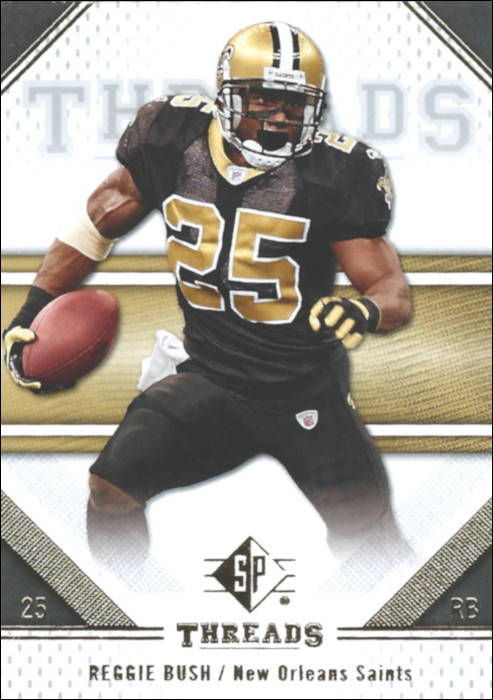 Reggie Bush 2009 New Orleans Saints Upper Deck Threads Set