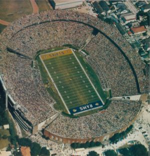 Ariel view of Tulane Stadium in 1967