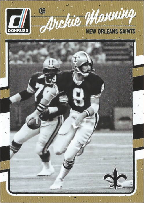 Archie Manning 2016 New Orleans Saints Panini Card