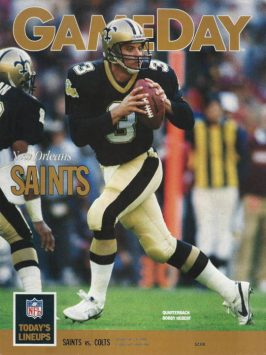 The December 24, 1989 cover of Gameday Magazine with Bobby Hebert