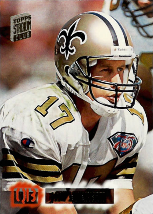Jim Everett 1994 New Orleans Saints Topps Stadium Card