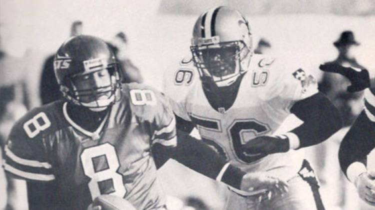 1992 NFL - Pat SWilling sacks Brian Nagle