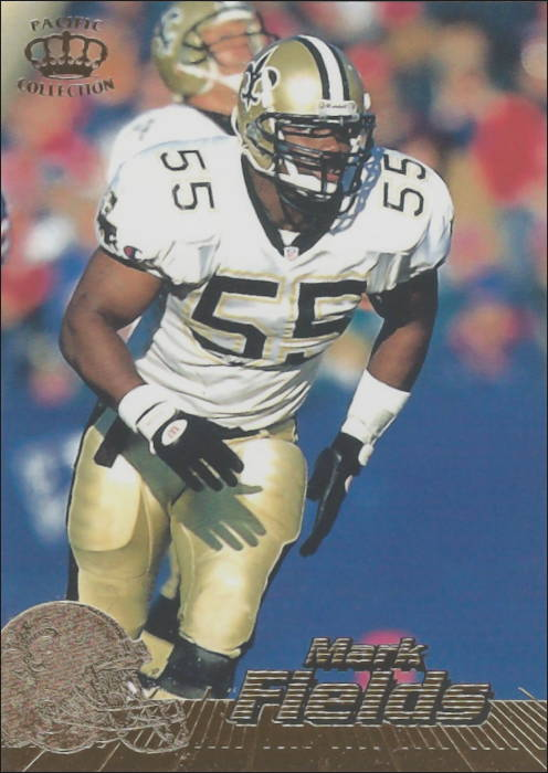 Mark Fields 1996 New Orleans Saints Pacific Football Card