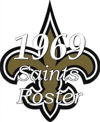 1969 New Orleans Saints NFL Roster