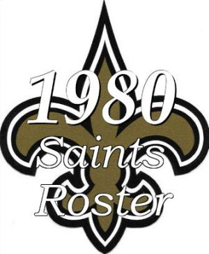 logo for the New Orleans Saints Roster of 1980