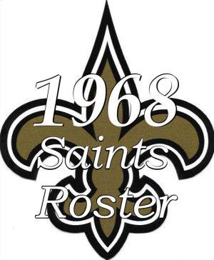 1968 New Orleans Saints Roster Logo