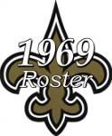 1969 New Orleans Saints Team Roster