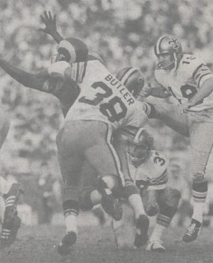 Saints Kicker Bill McClard, Tommy Myers Holding