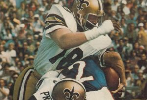 Billy Newsome of the 1973 New Orleans Saints Defense