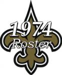 New Orleans Saints 1974 NFL Season Team Roster