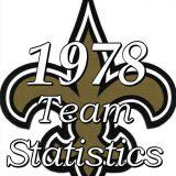 1978 New Orleans Saints Team Statistics