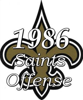 1986 New Orleans saints Offense