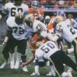 New Orleans Saints Defense in 1979 game against the Denver Broncos