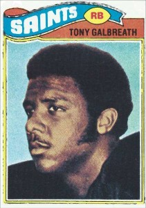 Tony Galbreath, New Orleans Saints Rookie in 1977