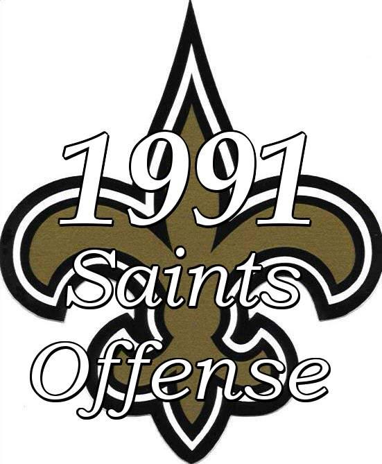1991 New Orleans Saints Offense