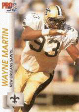 Wayne Martin, 1992 New Orleans Saints Defensive End