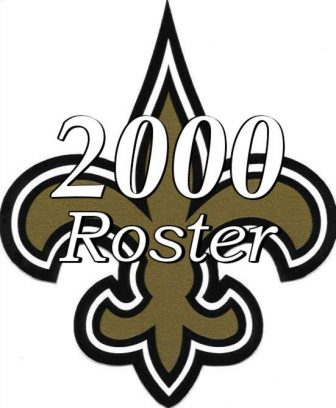 2000 New Orleans Saints NFL Season Team Roster