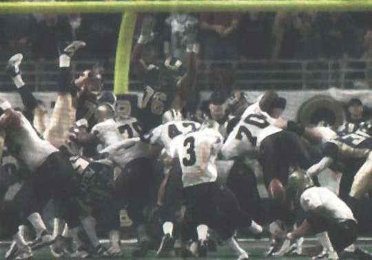 John Carney's game winning field goal, New Orleans vs St. Louis 2001 Saints Season