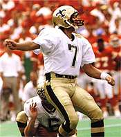 Morten Andersen of the New Orleans Saints