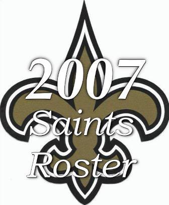 2007 New Orleans Saints Team Roster