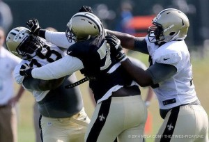 New Orleans Saints get physical