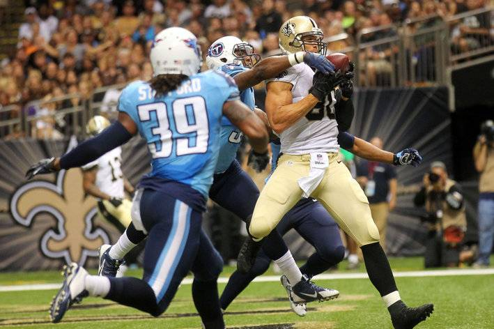 Jimmy Graham Saints 2014 preseason vs Titans