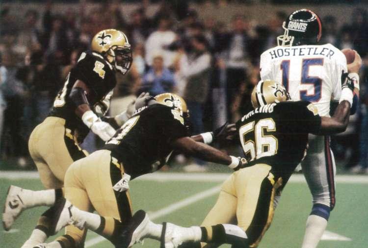 Dome Patrol sacks Jeff Hostetler 1988