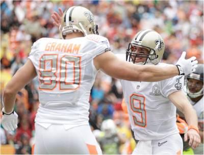 Drew Brees, Jimmy Grahm 2014 NFL Pro Bowl
