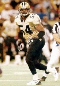 Linebacker Darrin Smith of the 2002 New Orleans Saints
