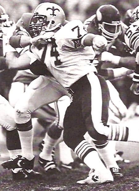 Derland Moore of the New Orleans Saints