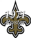 1971 New Orleans Saints NFL Season Team Roster