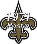 1971 New Orleans Saints NFL Season Team Roster