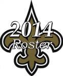 New Orleans Saints 2014 NFL Season Team Roster