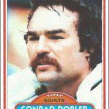 Conrad Dobler 1980 New Orleans Saints Trading Card