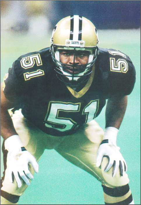 Sam Mills of the New Orleans Saints