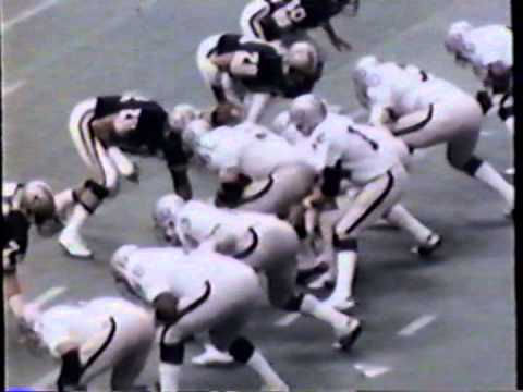 highlights of the 1979 Monday Night Football Game New Orleans Saints against the Oakland Raiders