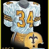 Watercolor Picture of 1967 New Orleans Saints niform